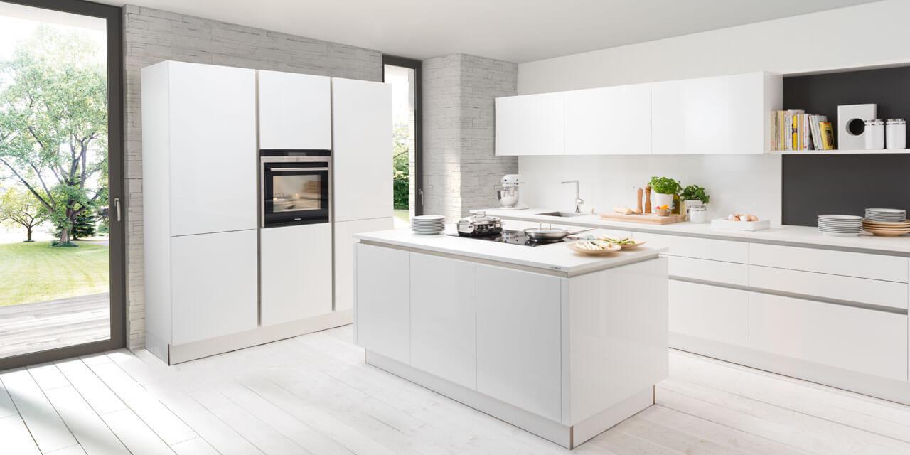 Grifflose Küchen - Geradlinig, wohnlich und modern