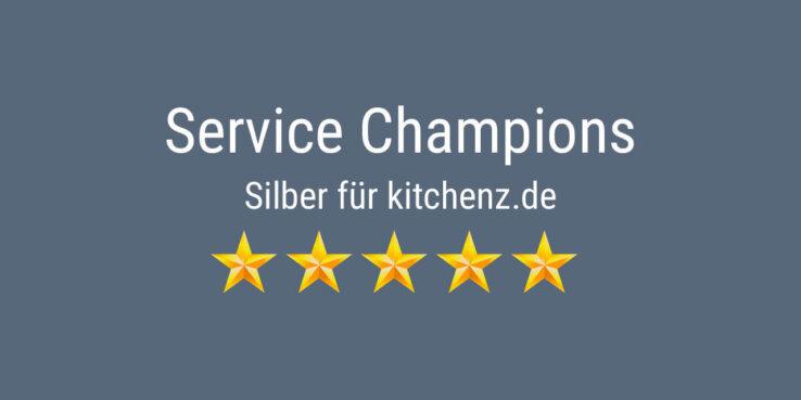 kitchenz.de erhält Silber bei den Service Champions