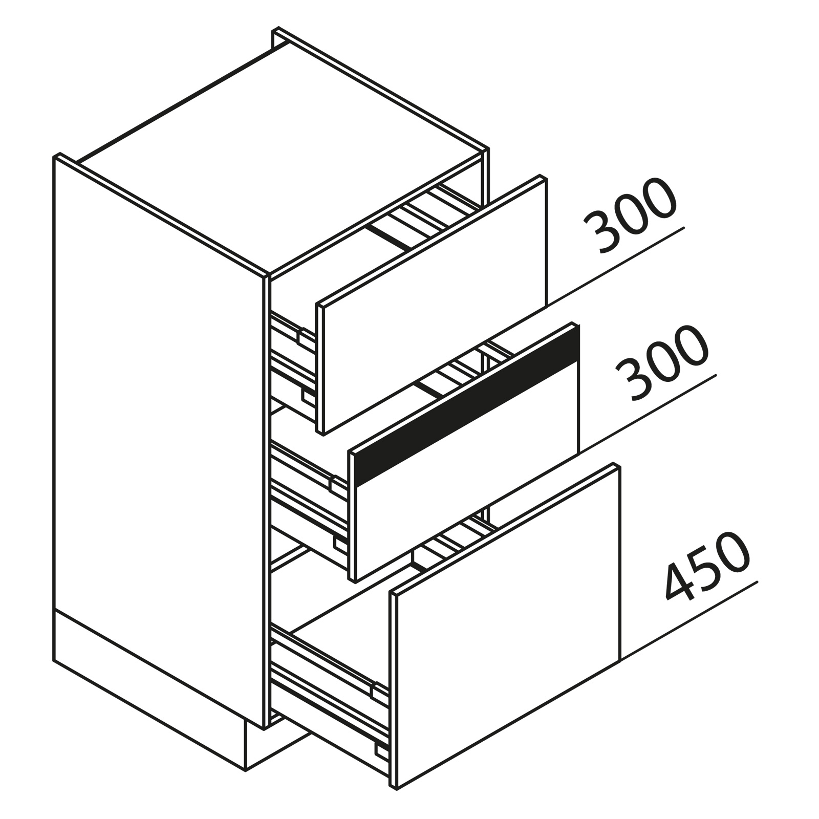 nolte k chen hochschrank vza60 105. Black Bedroom Furniture Sets. Home Design Ideas
