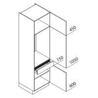 Nolte Küchen Hochschrank Geräteschrank GKS225-103