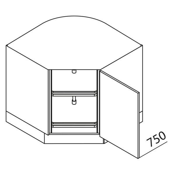 Nolte Küchen Unterschrank Eckschrank UET90