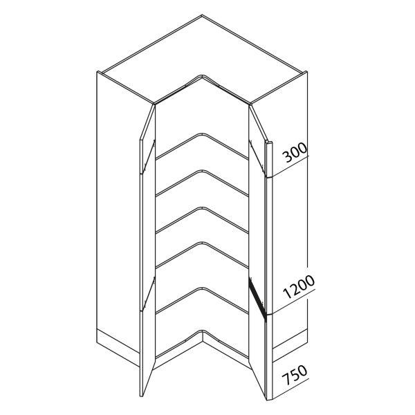 Nolte Küchen Hochschrank Eckschrank VE105-225