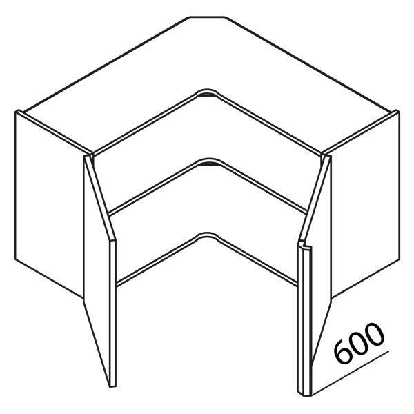 Nolte Küchen Hängeschrank Eckschrank HE65-60-L