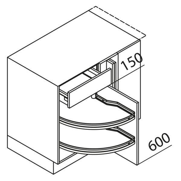 Nolte Küchen Eckschrank UEA125-65-R