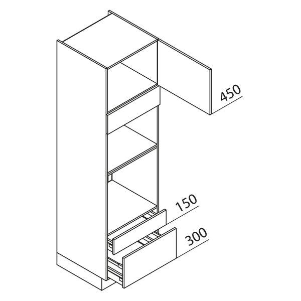 Nolte Küchen Hochschrank Geräteschrank GBBAS210-3-2