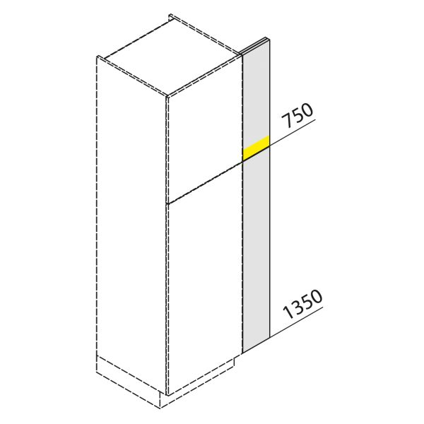 Nolte Küchen Hochschrank Passstück Frontbezogen SP2-210-H