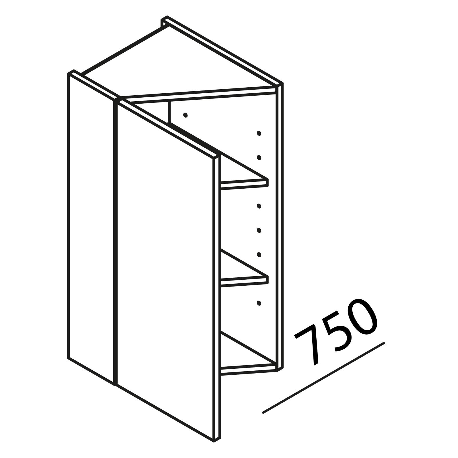Nolte Küchen Hängeschrank Diagonalschrank HVS30-75