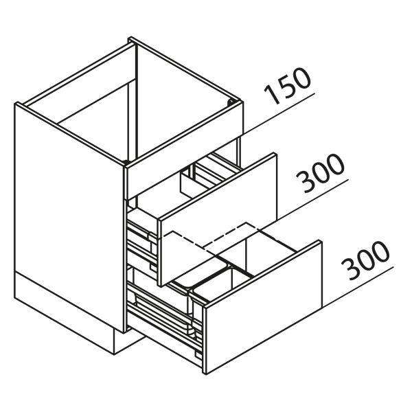 Nolte Küchen Unterschrank Spülenschrank mit Abfallsystem SAK90-03