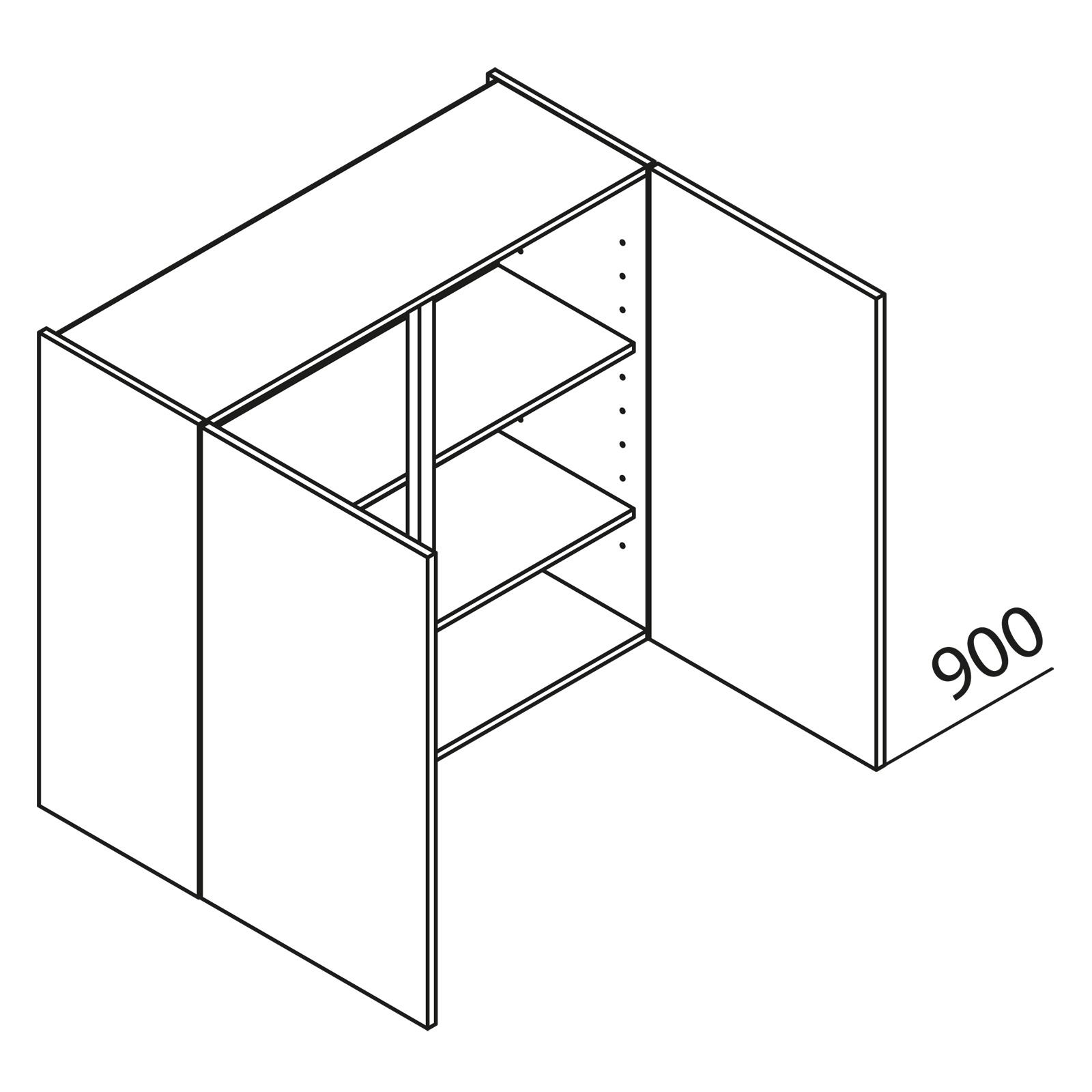 nolte k chen h ngeschrank h100 90. Black Bedroom Furniture Sets. Home Design Ideas