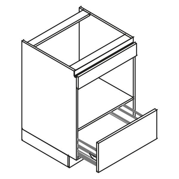 kitchenz k1 PUR Mikrowellenschrank AUM6-050BZ