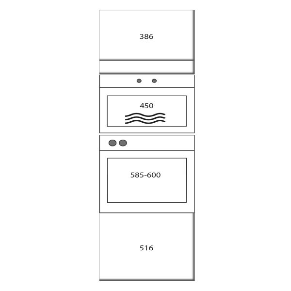 kitchenz k1 Geräteschrank GO16-ME