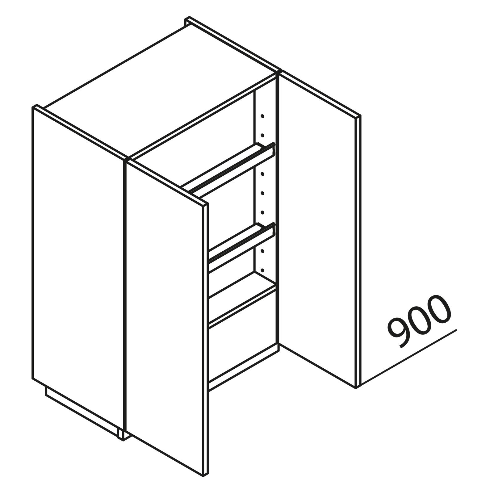 nolte k chen h ngeschrank f r dunstabzug hwut60 90. Black Bedroom Furniture Sets. Home Design Ideas