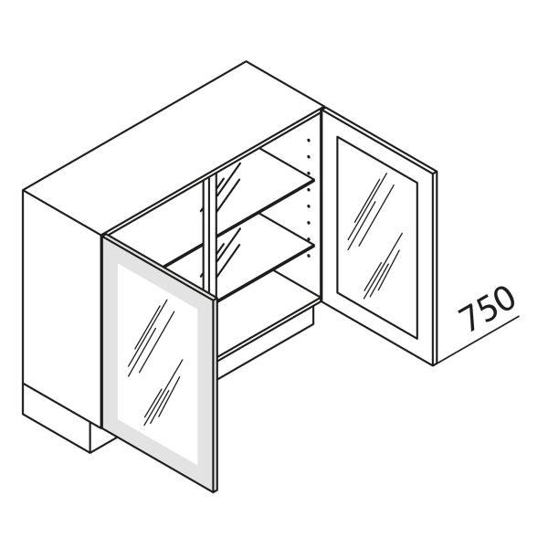 Nolte Küchen Unterschrank mit Glastür DS UDDDS100-75-39