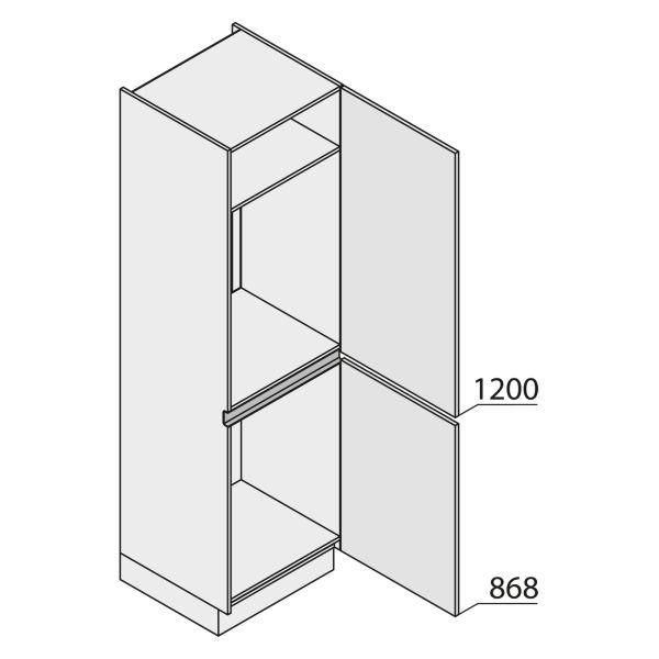 Nolte Küchen MatrixArt Geräte-Hochschrank für Kühlschrank YGK210-88-U9