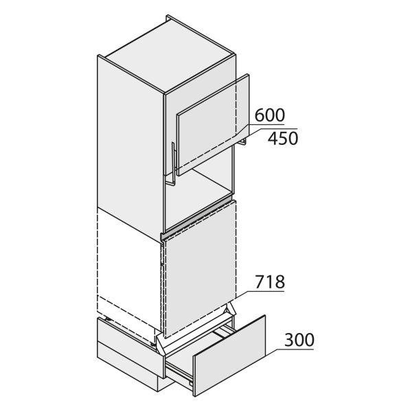 Nolte Küchen MatrixArt Geräte-Hochschrank für Geschirrspüler YGGSAL210