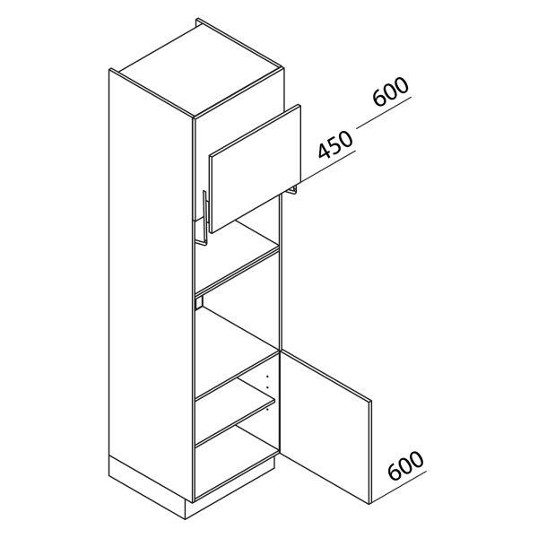 Nolte Küchen Hochschrank Geräteschrank GBL225-3