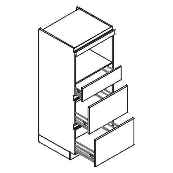 kitchenz k1 PUR Geräteschrank AGO11-MSZ2