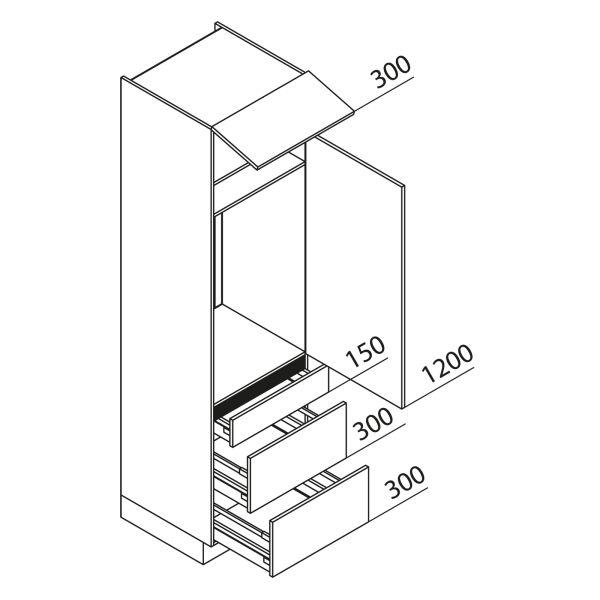 Nolte Küchen Hochschrank Geräteschrank GKAK225-103-09