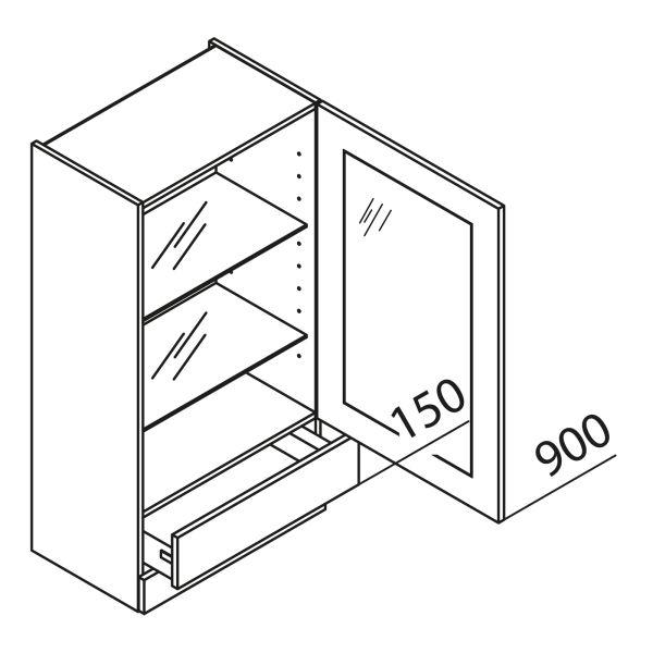 Aufsatzschrank mit Glastür HASKV50-115