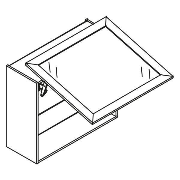 kitchenz k1 Glas Hängeschrank HGN6-100SL-SB