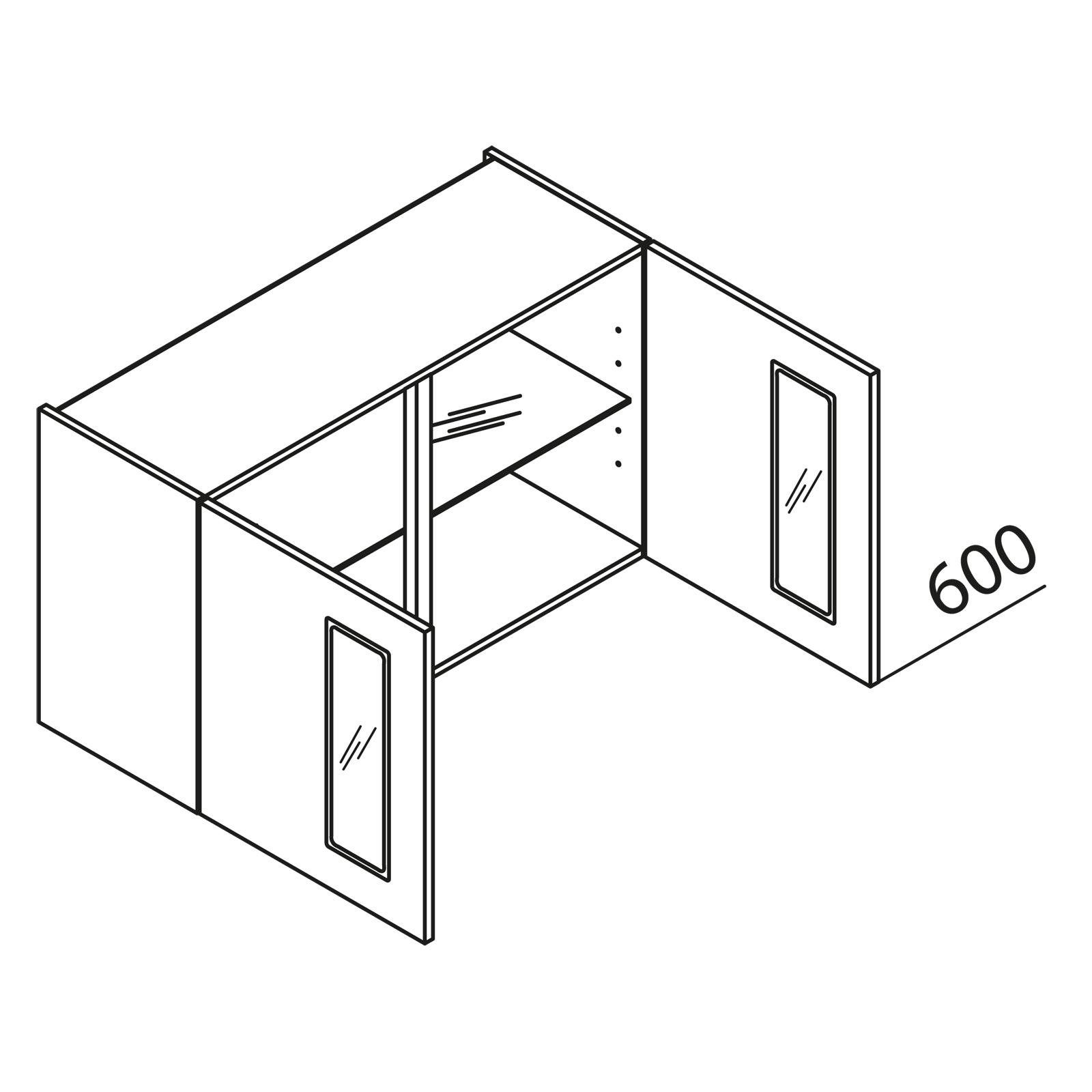 Nolte Küchen: MatrixART Glas Hängeschrank YHVAG120-60 kaufen