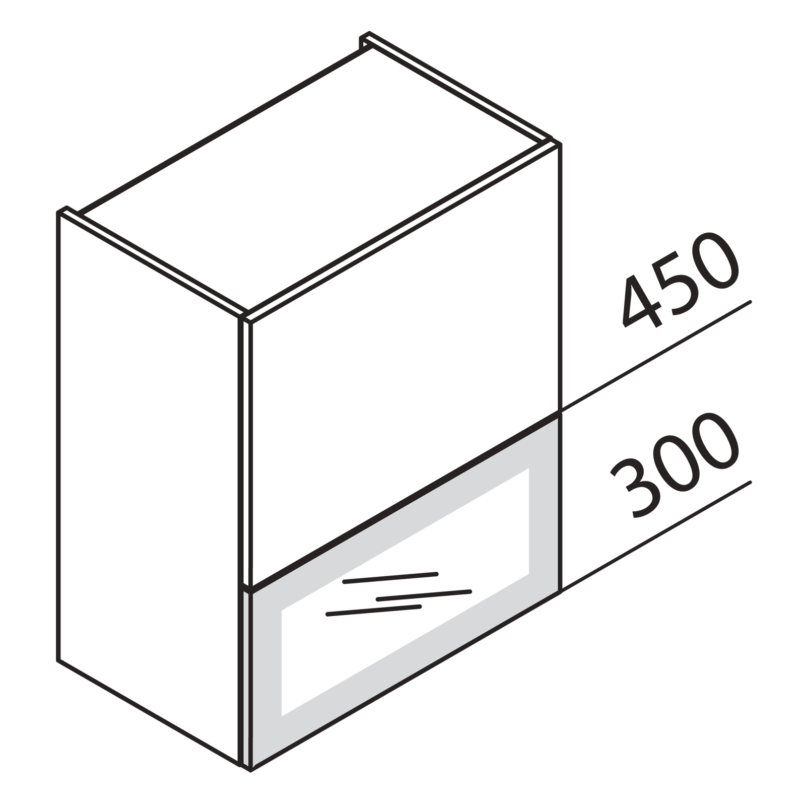 nolte k chen faltklappenschrank mit glas de hfkdepu60 75. Black Bedroom Furniture Sets. Home Design Ideas