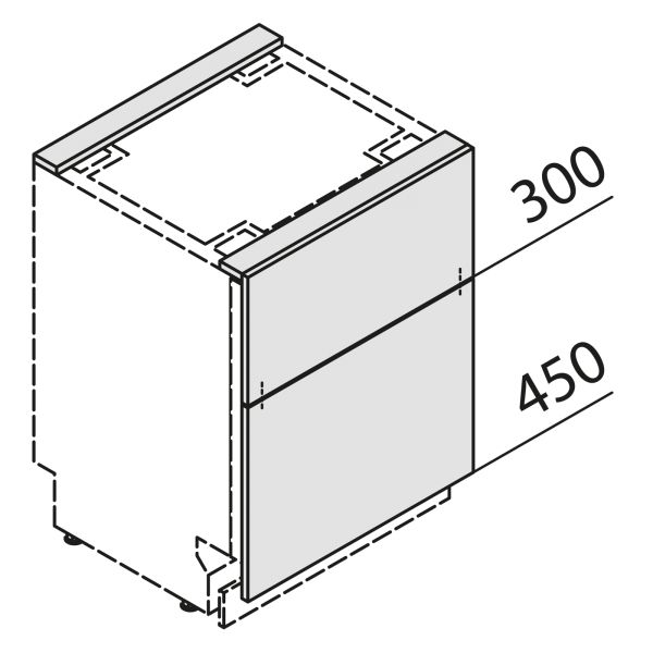 Türfront für Geschirrspüler GSBS60-01-UZ