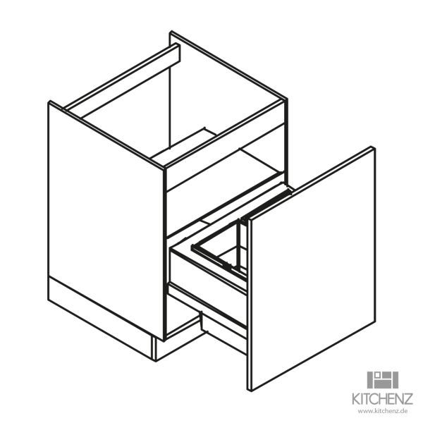 kitchenz k1 Spülenschrank DUS6-060ZAB3-1