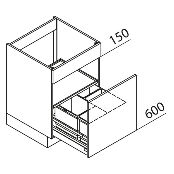Nolte Küchen Unterschrank Spülenschrank mit Abfallsystem SAB45