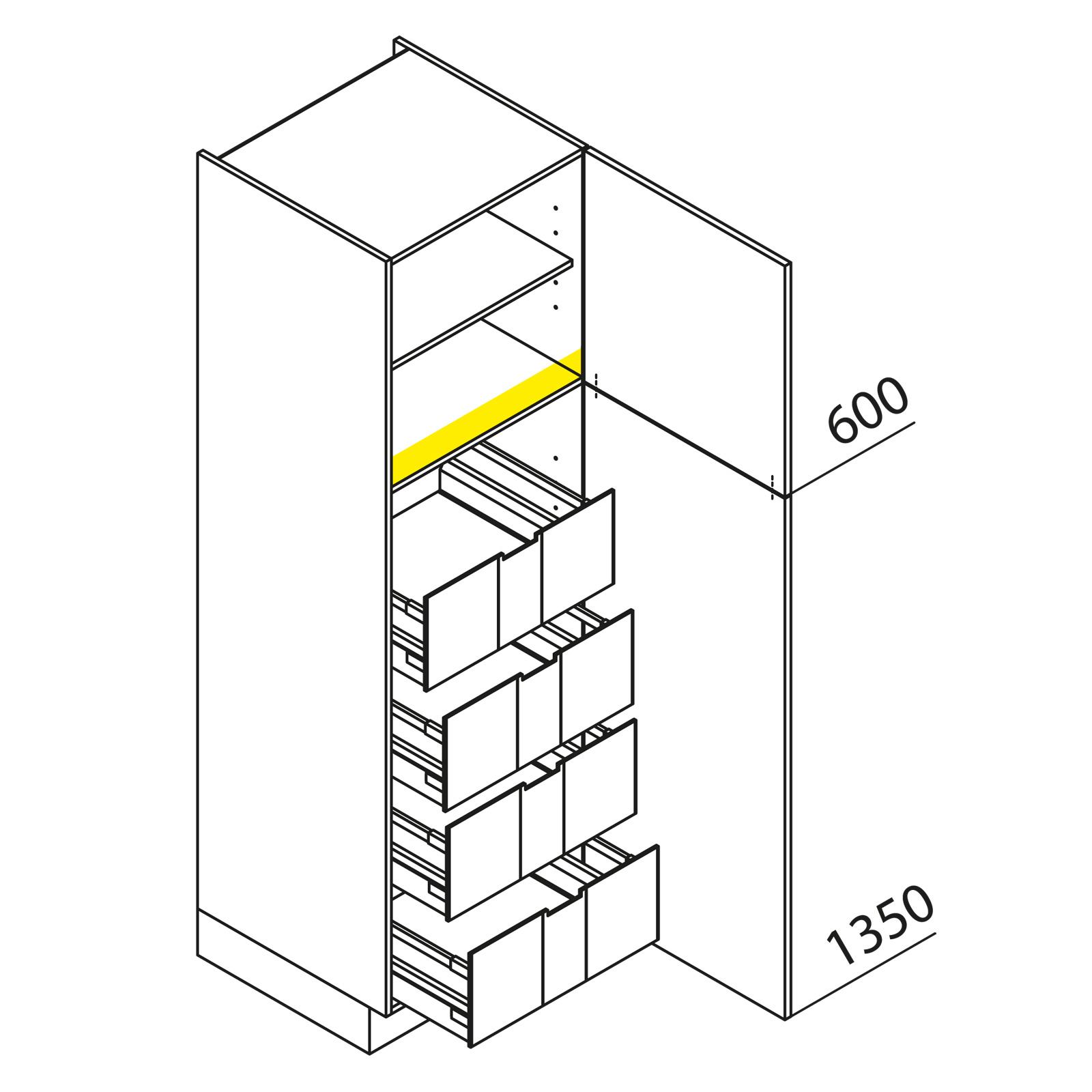 nolte k chen hochschrank vi40 195 h. Black Bedroom Furniture Sets. Home Design Ideas