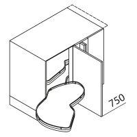 Nolte Küchen Unterschrank Eckschrank LE MANS UELAD125-65MS