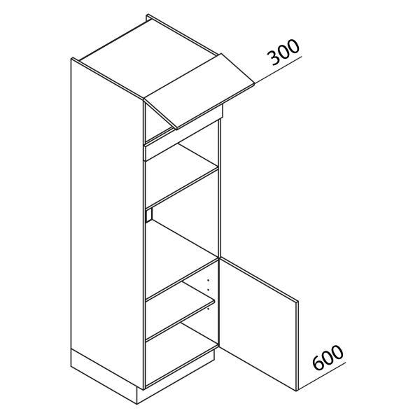 Nolte Küchen Hochschrank Geräteschrank GBB195-3-1