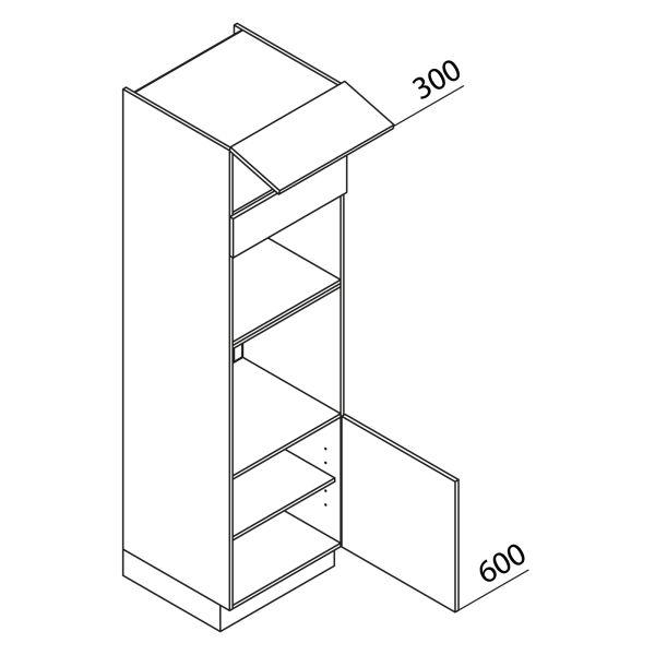 Nolte Küchen Hochschrank Geräteschrank GBB210-3-2