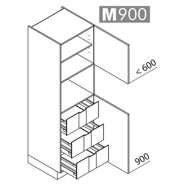 Nolte Küchen Hochschrank Geräteschrank GBI195-4