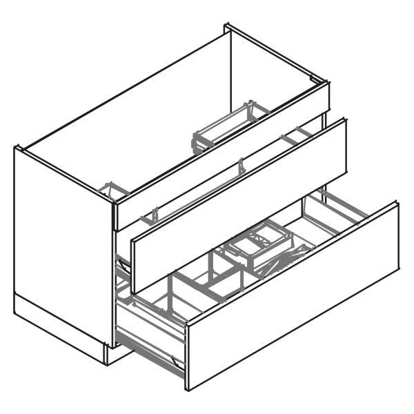 kitchenz k1 Spülenschrank DUS6-120BZ2AB3