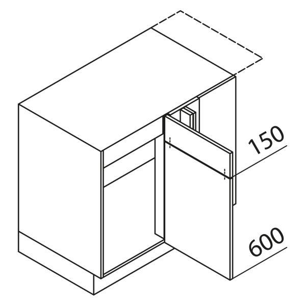 Nolte Küchen Unterschrank Eckspülenschrank UESA125-65MS