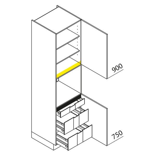 Nolte Küchen Hochschrank Geräteschrank GBI225-3