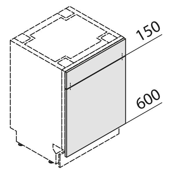 Türfront für Geschirrspüler GSBS60