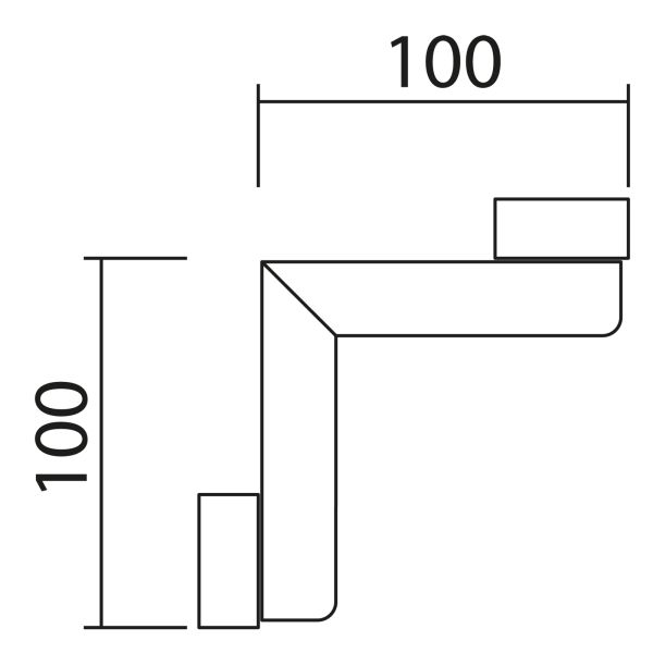 Nolte Küchen Hängeschrank Eck-Passstück Frontbezogen HPE65-90