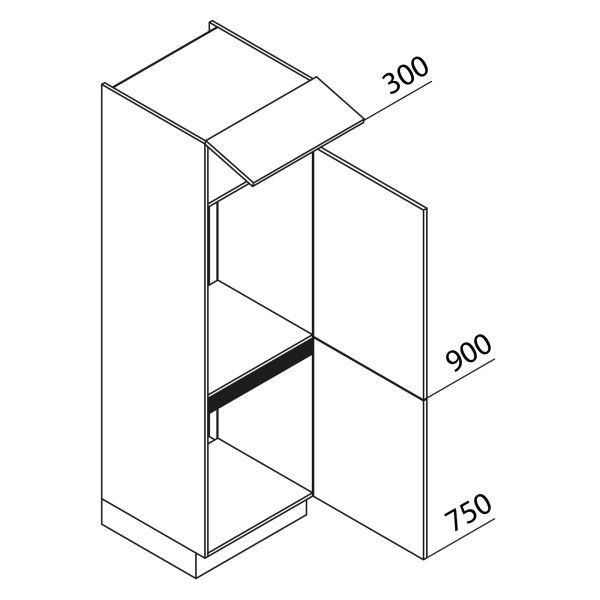 Nolte Küchen Hochschrank Geräteschrank GKK195-72-88