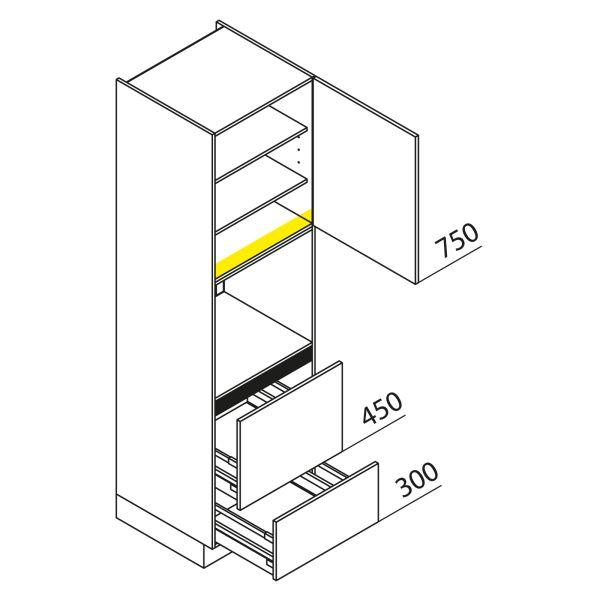 Nolte Küchen Hochschrank Geräteschrank GBAZ210-3