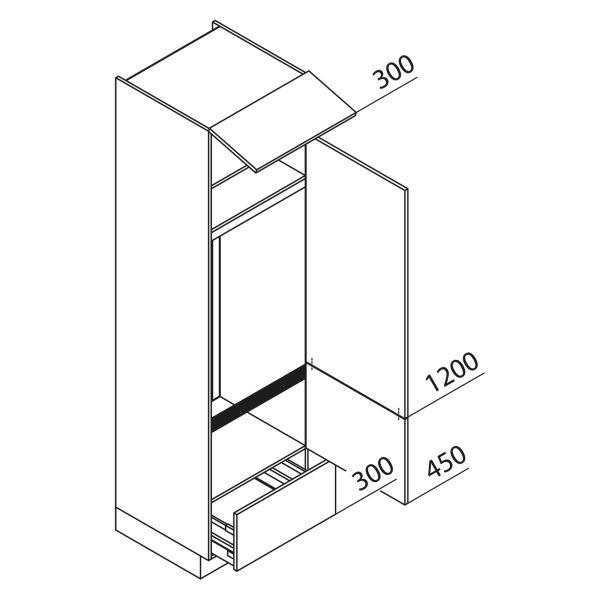 Nolte Küchen Hochschrank Geräteschrank GKA225-144-09