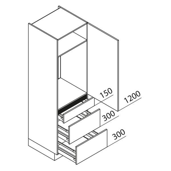 Nolte Küchen Hochschrank Geräteschrank GKAK195-88-09