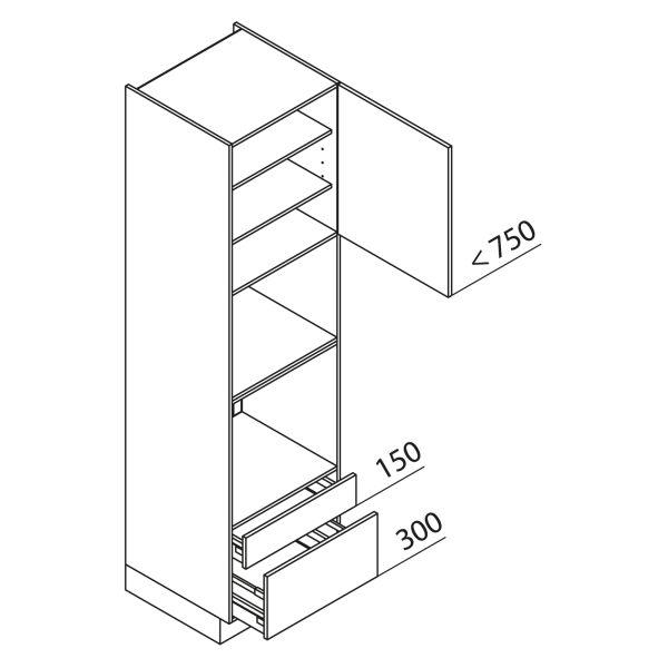 Nolte Küchen Hochschrank Geräteschrank GBBAS225-3-4