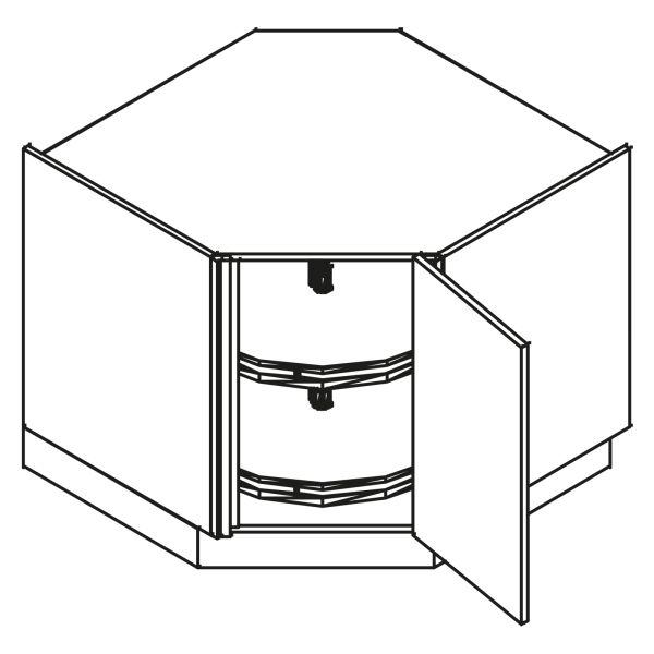 kitchenz k1 Diagonalschrank DUED6-090DVC
