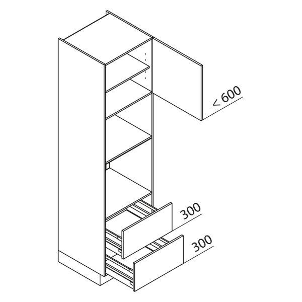 Nolte Küchen Hochschrank Geräteschrank GBBAZ225-3-4