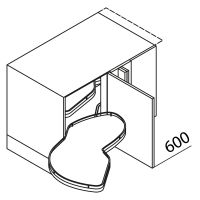 Nolte Küchen Unterschrank Eckschrank LE MANS UELAD110-60-65