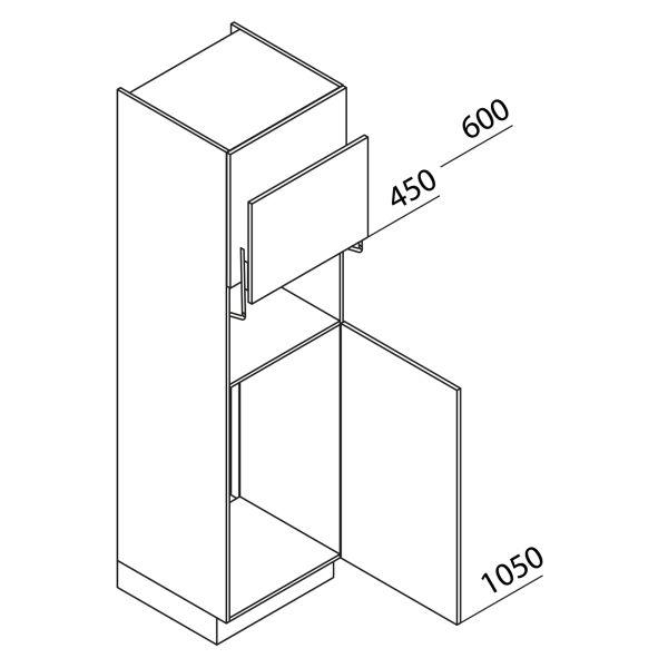 Nolte Küchen Hochschrank Geräteschrank GKL210-103