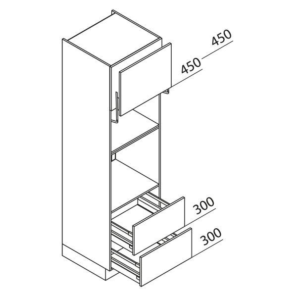 Nolte Küchen Hochschrank Geräteschrank GBLAZ210-3