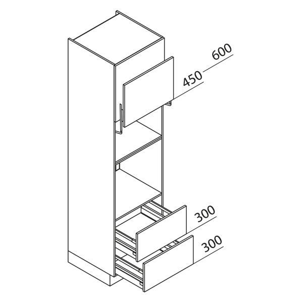 Nolte Küchen Hochschrank Geräteschrank GBLAZ225-3
